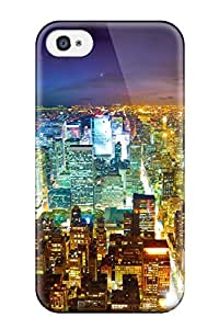 Iphone 4/4s Hard Back With Bumper Silicone Gel Tpu Case Cover City