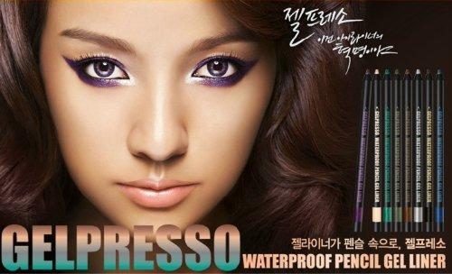 Brand New Clio Gelpresso Waterproof Pencil Gel Eyeliner (Golden Black)