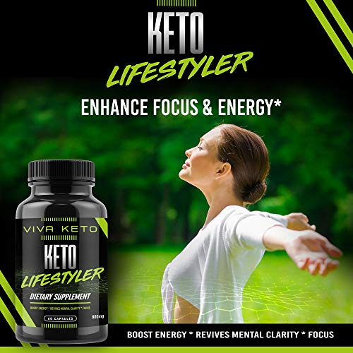 Keto Diet Pills Appetite Suppressant Supplement - Exogenous Ketones Ketogenic Diet Pills - Boosts Metabolism and Supplies Energy- 60 Capsules by Keto Lifestyler (Image #1)