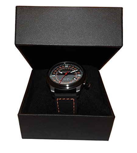 Fort-Alpha-Series-Mens-24HR-ALPHA-00S-Military-Time-Hour-Wristwatch-with-Black-Silicone-Strap-24