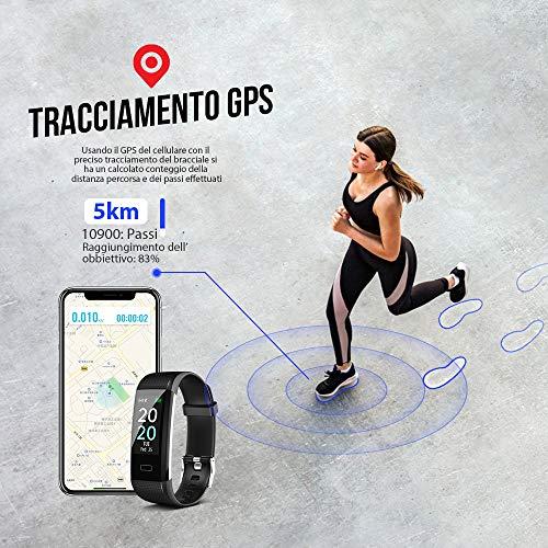 MROTY Fitness Tracker, Orologio Fitness Uomo Donna, Smartwatch Impermeabile Multifunzione, Stile e Cuore Italiano