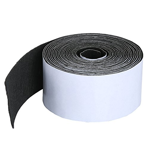 Pllieay 1 Pack Self Adhesive Felt Tape Polyester Felt Tape Furniture Felt Strips 1.96 inch x 0.04 inch x 14.7 feet for Furniture and Hard ()