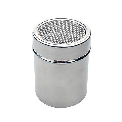 lennonsi Dispensador del tamiz del polvo del café del tamiz de la harina del acero inoxidable