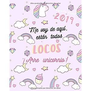 Agenda 2019 Semanal y Mensual, Modelo Unicornio Rosa y ...