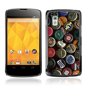 YOYOSHOP [Beer Cap Collection] LG Google Nexus 4 Case