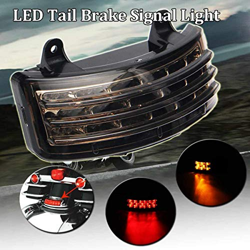 Gavita-Star - 12V For Harley Touring Street Glide Tri-Bar LED Rear Fenders Brake Tail Light Turn Signal Lamp Taillight Motorcycle Accessorie