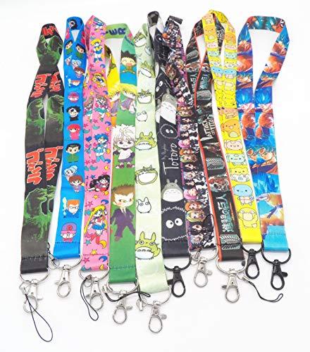 10 Assorted Anime Bleach Yu Yu Hakusho Phone Key Chain Strap LANYARD Set #69
