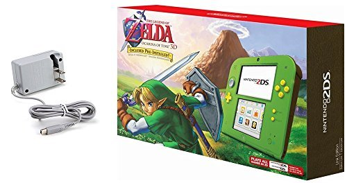 51hhpiwp1SL - Nintendo 2DS Bundle (2 Items): Nintendo 2DS with the Legend of Zelda Ocarina of Time 3D - Link Edition and Tomee AC adapter