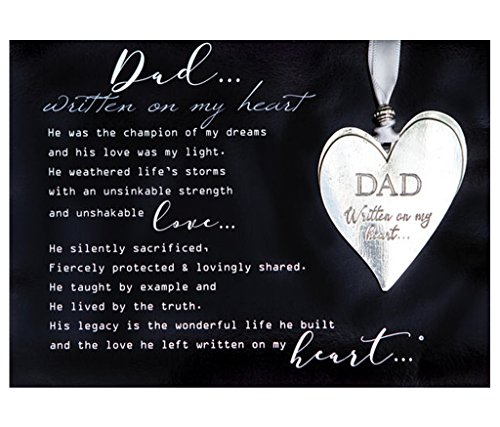(Dad Pewter Memorial Heart Boxed Gift Ornament with Sentimental)