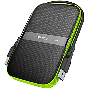 "Silicon Power 1TB Rugged Armor A60 Military-grade Shockproof/Water-Resistant USB 3.0 2.5"" External Hard Drive for PC, Mac, Xbox One, Xbox 360, PS4, PS4 Pro and PS4 Slim, Black"
