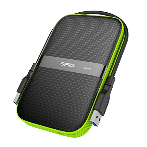 Silicon Power 3TB Rugged Portable External Hard Drive Armor A60, Shockproof USB 3.0 for PC, Mac, Xbox and PS4, Black