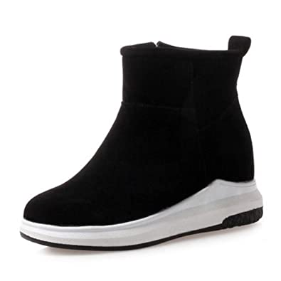 57bd63277f T-JULY Women's Colors Ankle Boots Thick Fur Warm Winter Girls Shoes Fashion  Concise Short