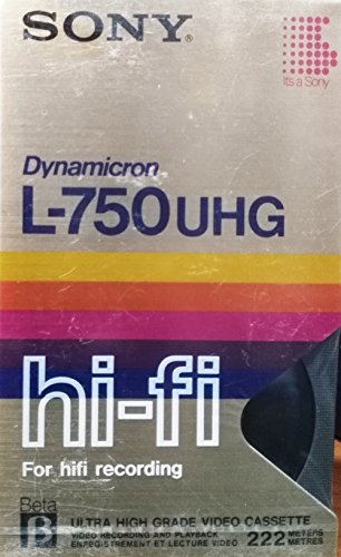 Sony Dynamicron L-750 UHG Video Tape
