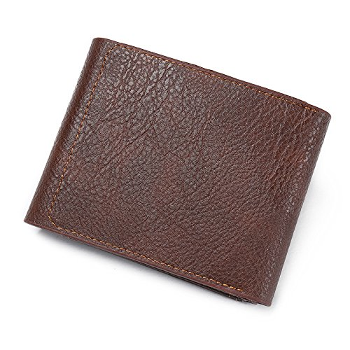 short card Men Prime Deals 2017 Day Brown Brown Credit Valentoria®Leather Coin coffee Holder personality wallet Wallet Retro JBL package 001 paragraph 007 Purse fashion JBL Card men ID waXXHq5