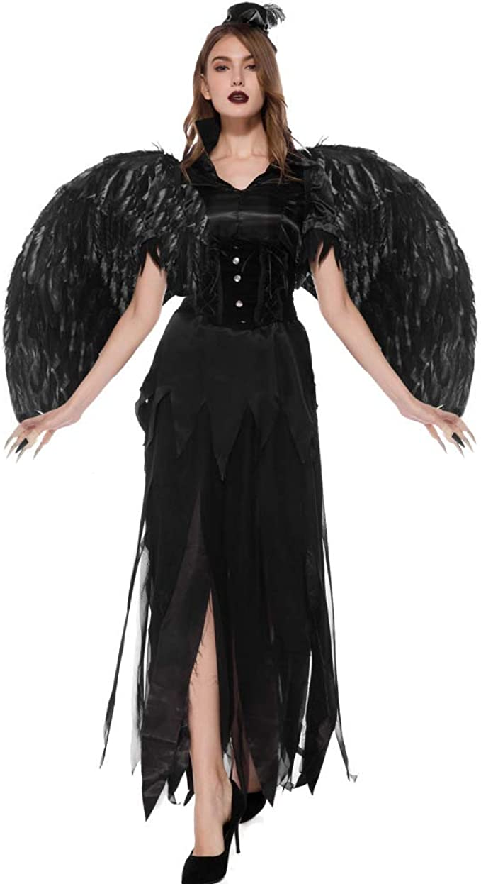 MM Disfraz De ángel Oscuro De Vampiro De Halloween Disfraz De ...