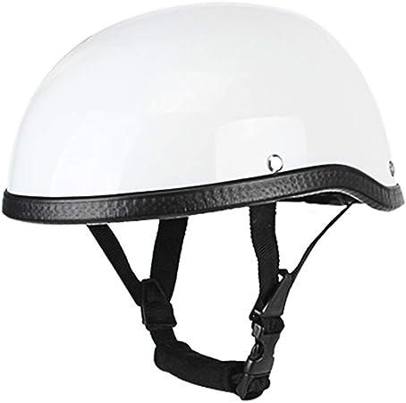 Kkmoon Motorrad Helm Retro Stil Motorradhelm Abs Baumwolle Motorrad Halbhelm Für Motorradfahrer Biker Ridder Einheitsgröße Universal Waschbar Auto