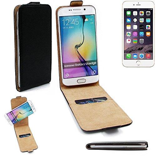 Case Smartphone Cover Flip Style pour Apple iPhone 6s 360°, noir, couvercle rabattable - K-S-Trade (TM)