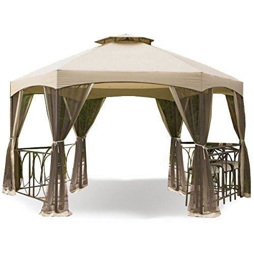 Garden Winds Replacement Canopy For The Dutch Harbor Gazebo Gazebos Patio And Furniture