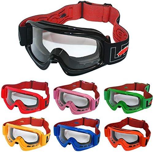 Leopard niños Gafas de Motocross Bicicleta Moto ATV Patio Gafas de Protección Verde