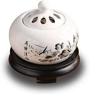 YANGF Timer Thermostat Electric Essential Oil Burner,Fragrance Powder/Pill/Sandalwood Aroma Diffuser,for Yoga SPA Meditation Home Decor (Lotus)