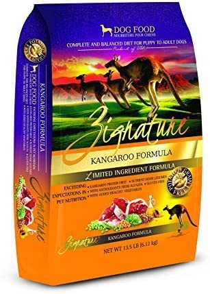 Zignature Kangaroo Dry Dog Food Formula 13.5 lb. Bag