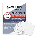 Disposable CPAP Filters (52 Pack - ONE Year Supply) - Fits All ResMed Air 10, Airsense 10, Aircurve 10, S9 Series, Airstart and More!