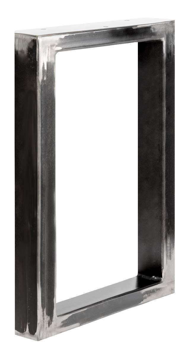 Perldunkelgrau 90x65x20 cm HOLZBRINK Metall Handtuchhalter