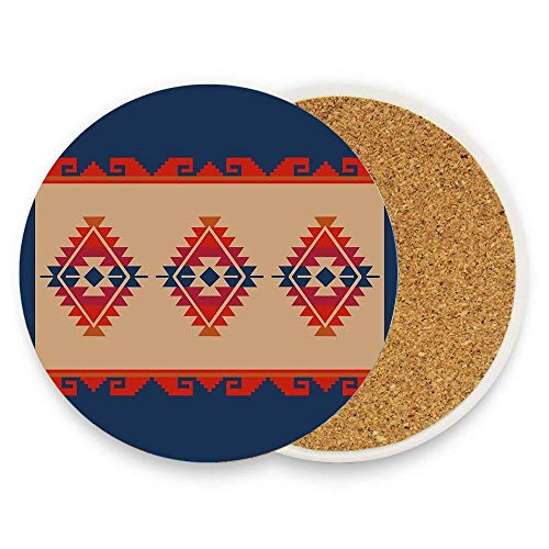 Jidmerrnm Daryl's Poncho Absorbent Ceramic Coasters for Drinks 1 Piece Round Water-absorbent Quick-drying Coaster Cup Mats ()