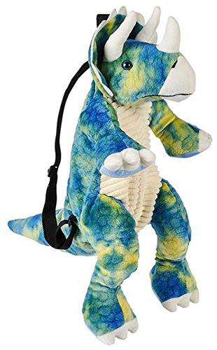 Plush Animal Backpack (Wildlife Tree Kids 20 Inch Blue Triceratops Dinosaur Backpack - Soft Stuffed Animal Small Plush Backpack)