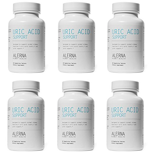 Uric Acid Support - Supports Normal Kidney Function & Uric Acid Levels (W/Tart Cherry, Celery Extract, Turmeric, Quercetin, and More) (6 Bottles)