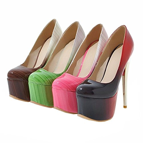 SJJH Stiletto Court Shoes with Large Size 11 UK Available Gorgeous Women Shoes for Parties and Nightclubs Red gjEKVYIwa