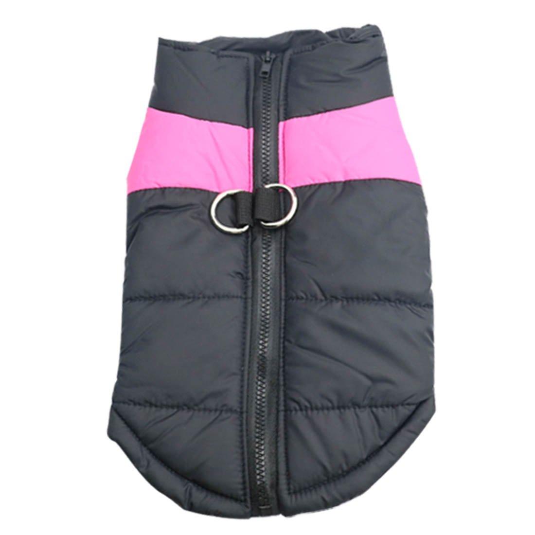 Idepet Manteau d'hiver pour Chien Vêtements Imperméables pour Petit Moyen Grand Chien Chat Taille S L L XL XXL 3XL 4XL 5XL (S, Rose)