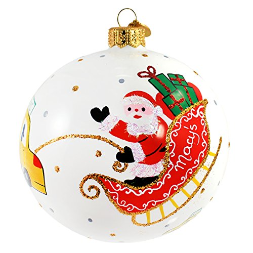 Michael Storrings 3.75-in Glass Christmas Ornament, Santa in New York - York City New Macy