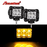 01 camaro fog light - Led Light Bar, Autofeel 4 inch 36W Driving Lights Emergency Lights Fog Light Snow Lights Flashing Amber Light Spot Flood Off Road Lights for Pickup Truck Jeep ATV UTV Wrangler SUV Dodge Ram 4x4 Ford