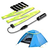 YOUKOYI Battery Operated Led Strip Light Rechargeable USB Camping Lights, LED Rope Light Portable Tent Light Emergency Flashlight for Outdoor Hiking