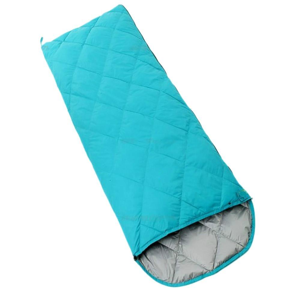 Green 400g Envelope Duck down sleeping bag outdoor four seasons Keep warm equipment 400g-800g nylon cloth