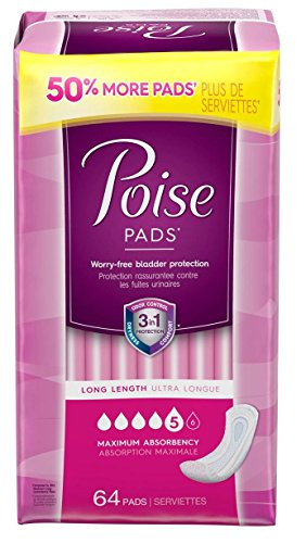 Poise Maximum Absorbency Long 64ct product image