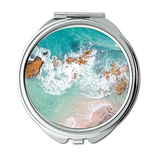 Mirror,Compact Mirror,above aerial aerial view,pocket mirror,portable -
