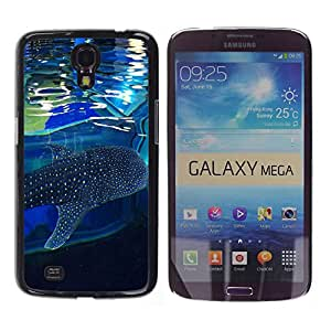 - Shark Marine - - Hard Plastic Protective Aluminum Back Case Skin Cover FOR Samsung Galaxy Mega 6.3 i9200 i9208 Queen Pattern
