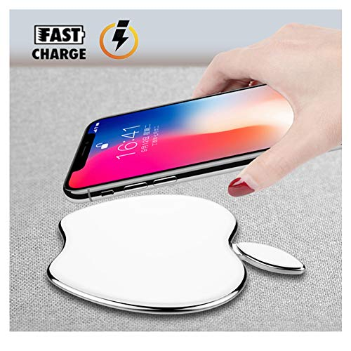 Fast Wireless Charger, 10W Qi Wireless Charging Pad Compatible iPhone Xs/XS Max/XR / X / 8/8 Plus, Galaxy S9 /S9+ /S8 /S8+ / Note 8, and Other Qi Compatible Devices.[No AC Adapter] (White)