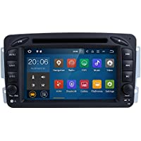 Android 7.1 Car Stereo DVD Player 7 In Dash Autoradio 2 Din Head Unit RAM 2G GPS Navigation with DVD Player for Mercedes-Benz C-W209/ C-W203/ Viano/Vito/ Vaneo/ A-Class (with SWC Buttons)