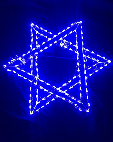 Outdoor Lighted Star Of David - 4