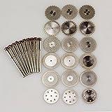 18 Dental Diamond Polishing Wheel Disc Cutter Plaster+ 10 HP Shank Mandrel 2.35mm