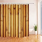 NYMB 3D Bamboo Forest Shower Curtain 69X70 inches Mildew Resistant Polyester Fabric Bathroom Fantastic Decorations Bath Curtains Hooks Included (Multi24)