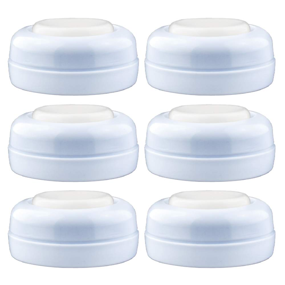 Maymom Screw Lids Aka Travel Caps with Rewritable Sealing Disc Compatible with Avent, Maymom Wide Mouth Bottles; Cap Replace Avent Natural Bottle Sealing Ring and Sealing Disc, 6pcs.
