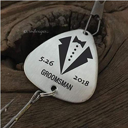 Personalized Groomsman Fishing Lure- Gift Wedding Gift For The Groomsman Tuxedo Fishing Lure Gift for The Fisherman Gift Groomsman