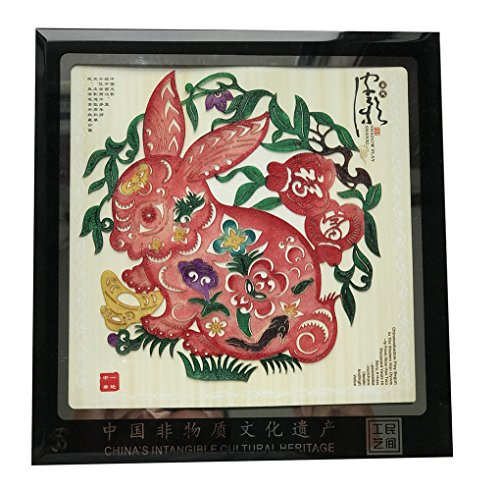 Handmade Artwork Desk Decors Collectibles Antiques Collectibles Art Office Decor Personalized Shadow Puppet Play College Student Gifts Interior Decorating Zodiac Pattern Rabbit