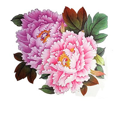 1 Pcs Waterproof Big Peony Pink Backing Pattern Tattoo Stickers