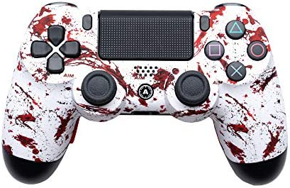 AimControllers PS4 Custom Wireless Controller, Playstation 4 Personalized Gamepad with 4 Paddles - Dexter