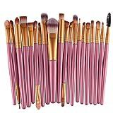 Makeup Brush Set,Neartime 20 pcs Beauty Tool Toiletry Kit Wool Make Up Brush Set (Gold1)
